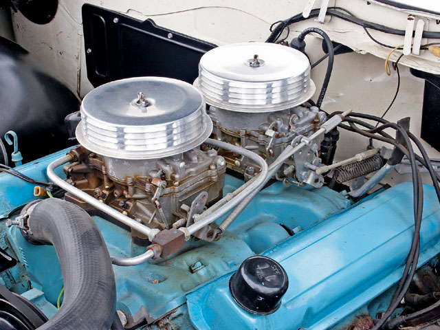 A previous owner replaced many of the Super-Duty components that disappeared over the years, including the late-'62 intake manifold and Super-Duty carburetors.