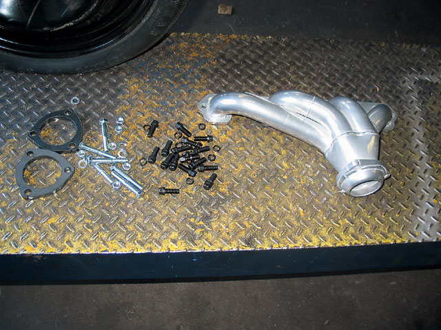 JBA supplied its Shorty headers for the Ford small-block V-8 and included all the fasteners and collector gaskets.