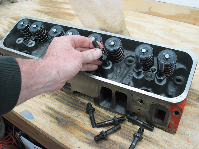 We had Slover's Porting Service machine our Vortec iron heads for screw-in studs just to make them more reliable.  Scoggin-Dickey had already modified the heads to accommodate more valve lift.