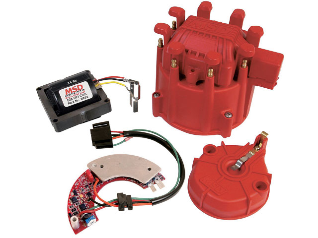 This high-energy ignition system from MSD is a very popular unit for some applications. The inherent design of these types of ignition systems causes them to be more dependent on the correct voltage input. So the output charge is directly affected by the input voltage. For these units, we recommend always running an alternator.