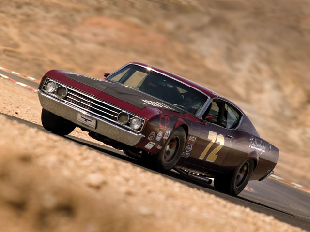 The Talladega may have paraded around a few tracks, but our photo shoot was the first time Rick got to really push it on a road course. Though it was designed with big ovals in mind, the Talladega stuck the corners at Willow Springs surprisingly well.