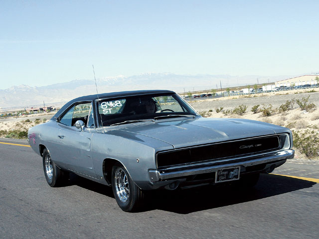 Whether on the track or on the street, Lauren Mestas of Albuquerque, New Mexico, loves to drive her '68 Charger.