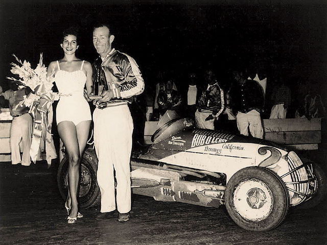 Don Cameron won a midget main event at Balboa Stadium in the late '50s and received the trophy from a stunningly beautiful 19-year-old model named Raquel Tejada-later to become, of course, Raquel Welch.