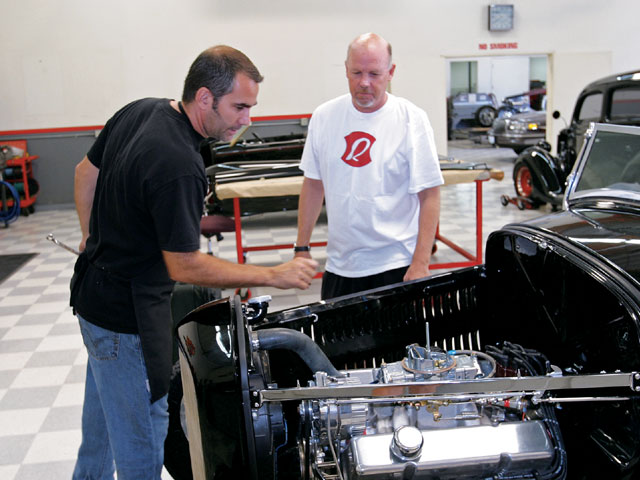 Chuck Lombardo Jr. and Steve go over what might need checking before heading cross-country.