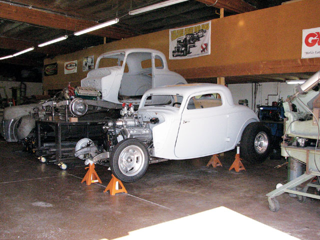 We did find the pair of John Mumford '34s, among other projects, in Dean's shop. One is Ardun-powered and the other Hemi-powered.