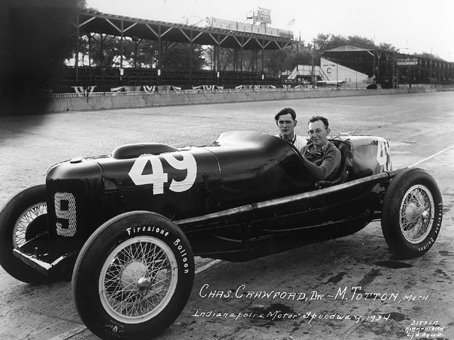 This was the Doc Williams-driven car of 1933, revamped as the Detroit Gasket Special for 1934. Charles Crawford was the driver this time around, with Milton Totten once again on board as mechanic.