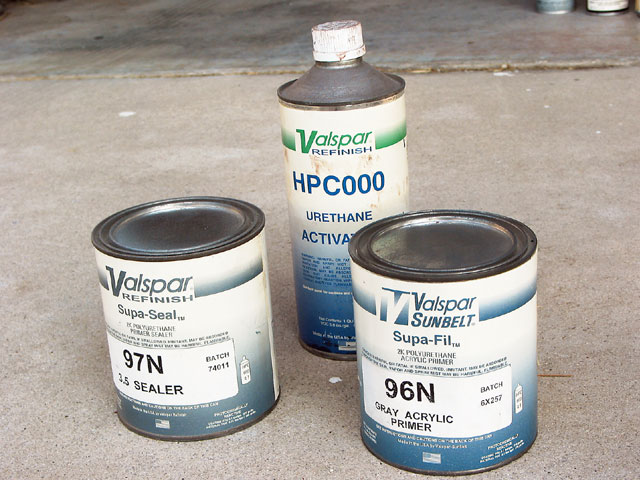 In the case of these particular products, the catalyst (or hardener) is the same for both the sealer and filler primer-a distinct advantage.