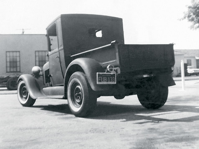 Jacobs painted his high school pickup in a dirt lot (which he watered to keep the dust down) next to his house in Compton.