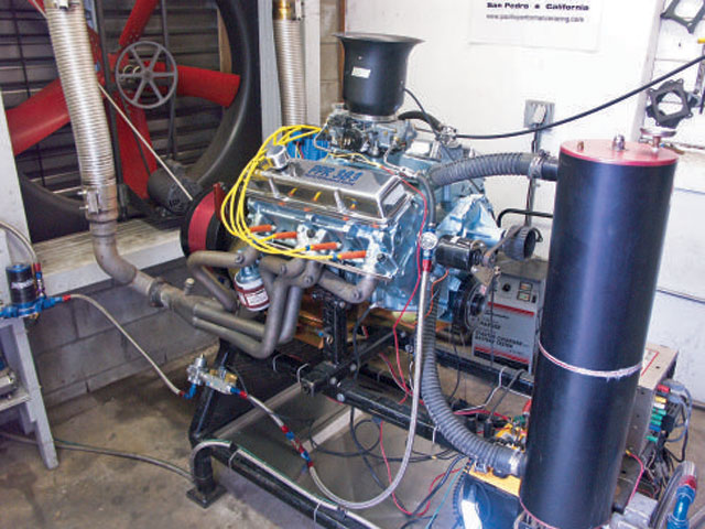 Mounted on the PPR 1,500 horsepower Dynomite dual rotor dynamometer and exhaling through a set of Doug's D564 '64-'67 GTO headers, over 20 pulls were made on the fresh 383. Peak readings were 462.6 horsepower at 6,090 rpm with 436.2 lb-ft at 4,389 rpm. All of this was on 91-octane pump gas with the ignition timing set at 34 degrees.