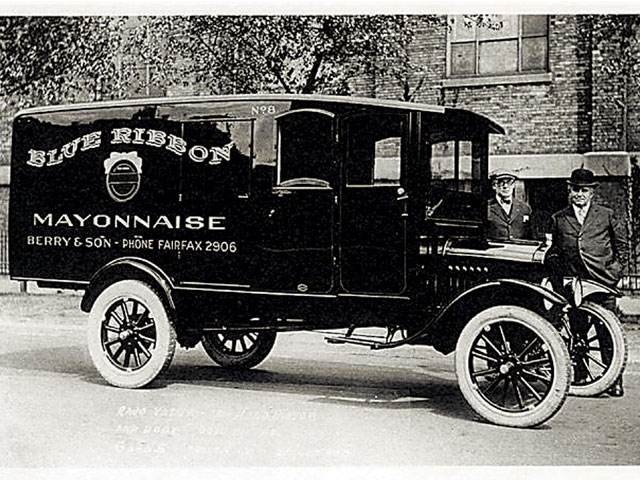 Could this be the real beginning of hot rodding? Many of the aftermarket heads developed were used to increase the power of commercial vehicles, but a Model T mayonnaise truck?