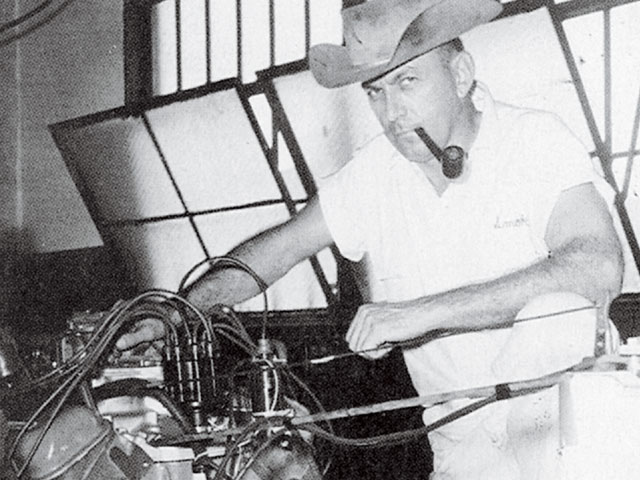 I always looked grouchy. But I was having a hell of a good time. Courtesy of the Smokey Yunick Collection