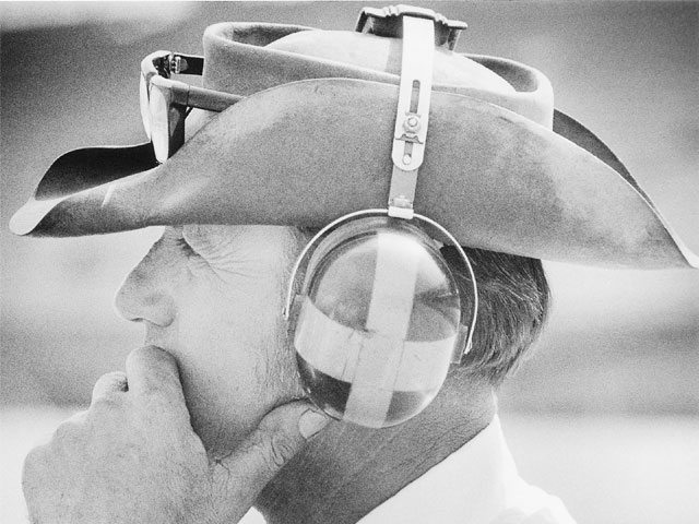 Even with his glasses parked on the brim of his hat, it seemed like Smokey saw more than anybody else at the racetrack. Circle Track Archives