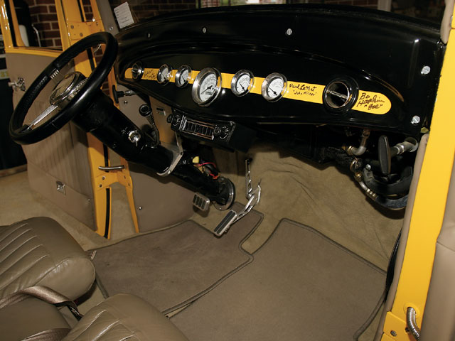 Three American Graffiti movie stars autographed Dave's dash: Paul Le Mat, Candy Clark, and Bo Hopkins.
