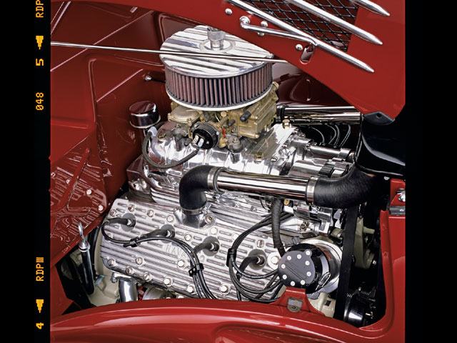 While Ford did grant us the first mass-produced V-8, it was a decision made more out of marketing than his own personal preferences (he cared how cheap they were, not how fast). This Flathead, though, is beyond even state-of-the-art for the car's proposed period.