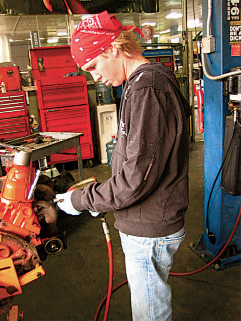For Kenny, working on his Mopars is a welcome break from the rigors of touring. He credits Ted Moser at Picture Car Warehouse (a supplier of cars for the motion picture industry) for letting him be a squatter in the off season.