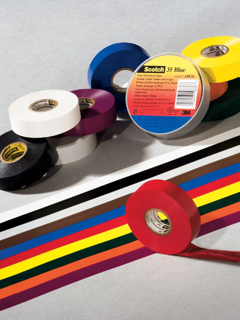Black Super 33+ works great for automotive wiring, but for the discerning enthusiast, Scotch 35 vinyl electrical color-coding tape takes the insulation and organization job one step further.