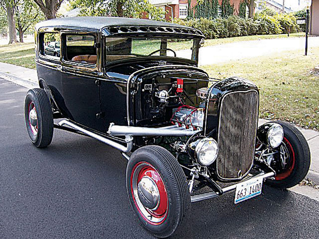 How can you go wrong with a Model A highboy sedan sporting a Deuce grille? John Thompson pulled off the look with his black '31.
