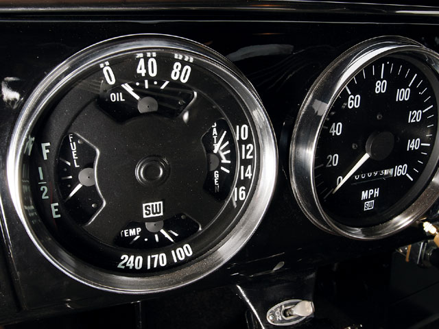 The stewart Warner gauges made famous after World War ii by racers and hot rodders were designed specifically for industrial use. So it followed suit that these latter-day 5-inch-diameter combo gauges, gauges most likely originally intended for big-rig applications, look entirely appropriate in a vintagethemed car.