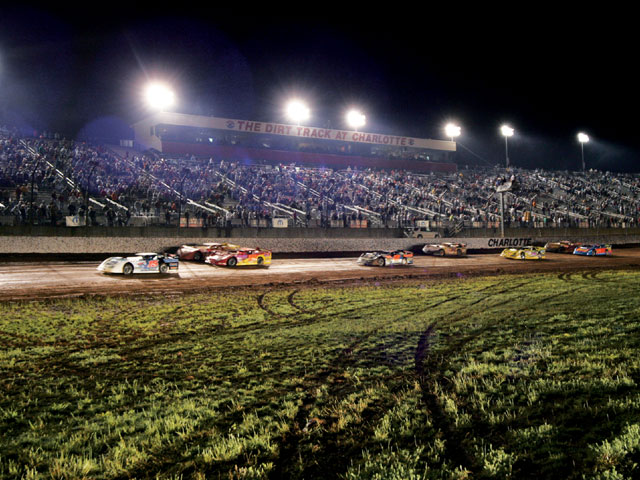 The Dirt Track at Lowe's Motor Speedway is a marquee track that hosts late-model racing, both crate and open. Jeff HuneycutT
