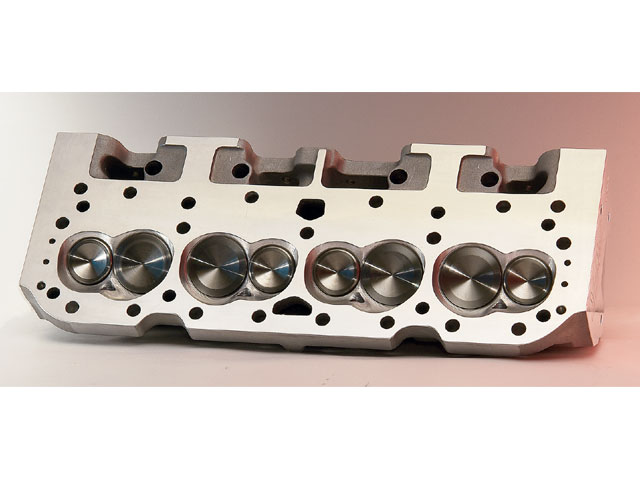 The starting point for maximizing power should always be at the cylinder heads. shown here is a 23-degree small-block Chevy head from AFr with proven power delivering capability.