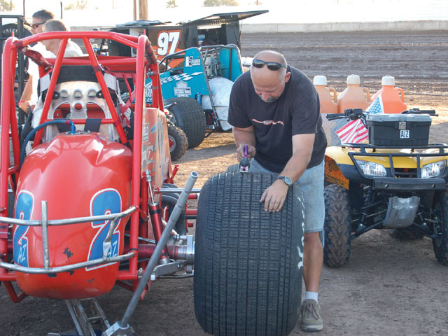 Tuning of tires was an activity that was going on in every pit on both evenings of racing. As race teams looked for that special setup to get them to the front to battle for the win.
