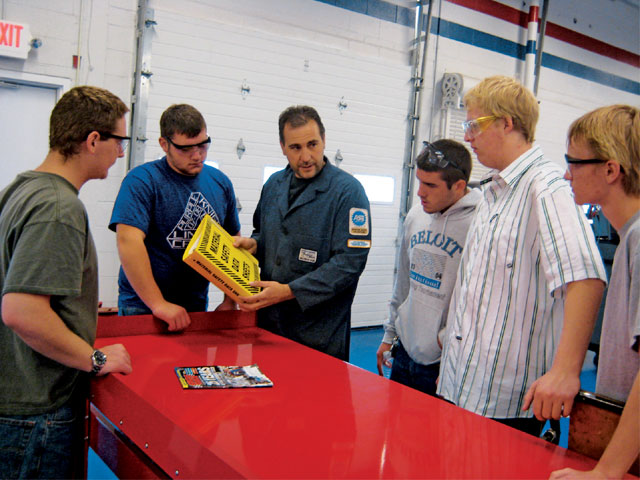 Pete Raskovic goes over the importance of Material Safety Data Sheets or MSDS with his students. If you have hazardous chemicals in your shop, you are required by law to have MSDS on hand and neatly organized in an easily-accessible place.