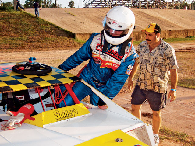 A head and neck restraint for dirt racing? You bet. You can never be sure you won't have a high g impact, even on dirt. Afterwards is too late to consider the consequences. If you suit up, you need a good restraint system.