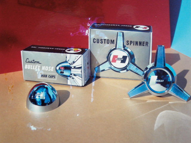 Along with the standard caps, Hurst also offered bullet-nose caps and three-wing spinners. The bullet caps cost $9 for two, while the spinners retailed for $15 for two. That price was later dropped to $11.50 for two.