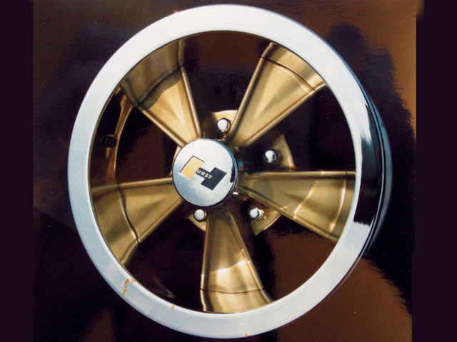Hurst produced a limited run of gold-anodized wheels, which were introduced on the GeeTO Tiger promotional GTO. They're some of the rarest of all Hurst wheels.