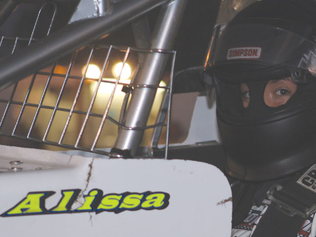 Alissa also wears a fire retardant balaclava or head sock, a great way to protect your head and neck. We bet Dale Earnhardt Jr. wished he had one on a few years ago.