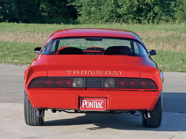 The '79s received a few styling alterations to the rear spoiler and the full-width appearance taillight/tail panel treatment.