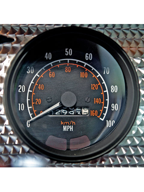 The mileage total is now up to 3,000. Dash bezel detail shows the amazing state of preservation of this Trans Am.