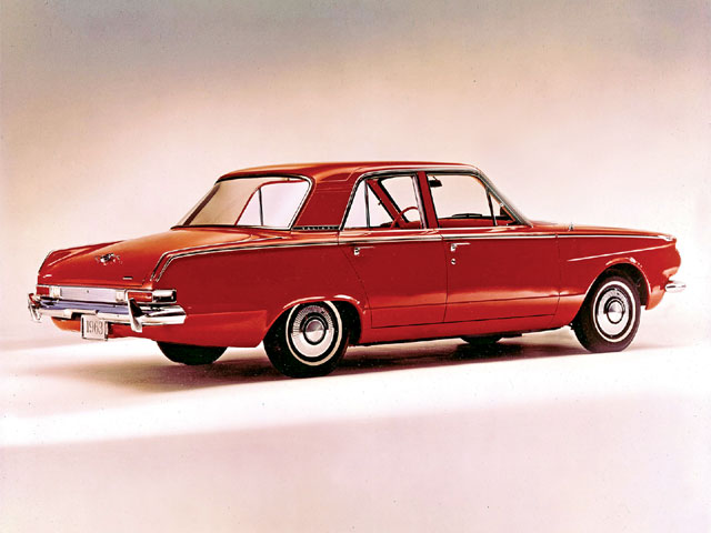 The A-Body got its first major restyling in 1963. Exner's peaked fenders were replaced with Elwood Engel's trademark slab sides and tall roof line. The year 1963 was the first year of Chrysler's 5-year/50,000-mile powertrain warranty-an industry first.