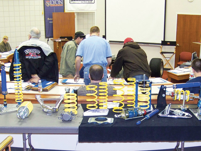 RaceWise is a hands-on school with plenty of AFCO chassis parts to explain complex topics.