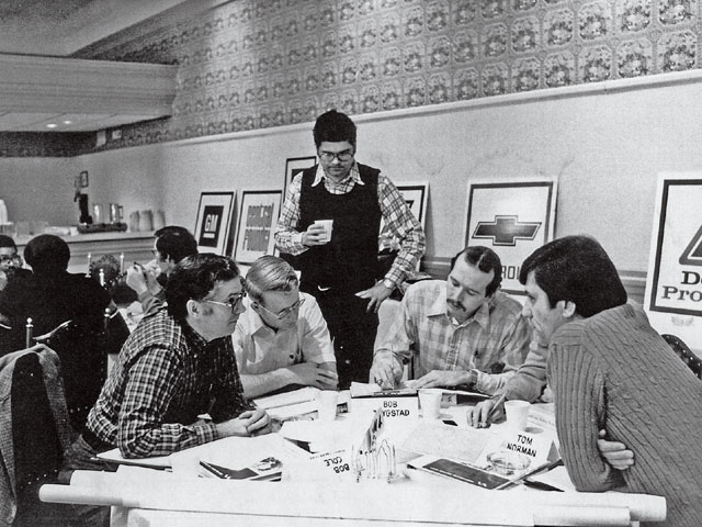 Here, John is leading a GM Value Engineering seminar in 1981. GM was the first company to use Value Engineering to improve quality. Previously, it was employed primarily for cost reduction.