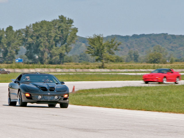 Track manager Jim Howe opened up the 2.2-mile road course at Mid America Motorplex to participants and spectators of the drag event for a few exhibition laps.