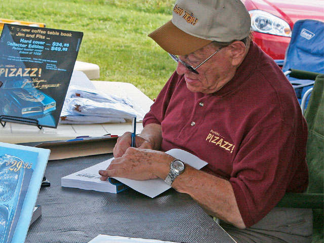 Jim Wangers was present both days and could be found visiting with enthusiasts and signing autographs. He and Art Fitzpatrick also spoke before a large group about their latest combined effort-the new book they co-authored entitled Pontiac Pizzazz.
