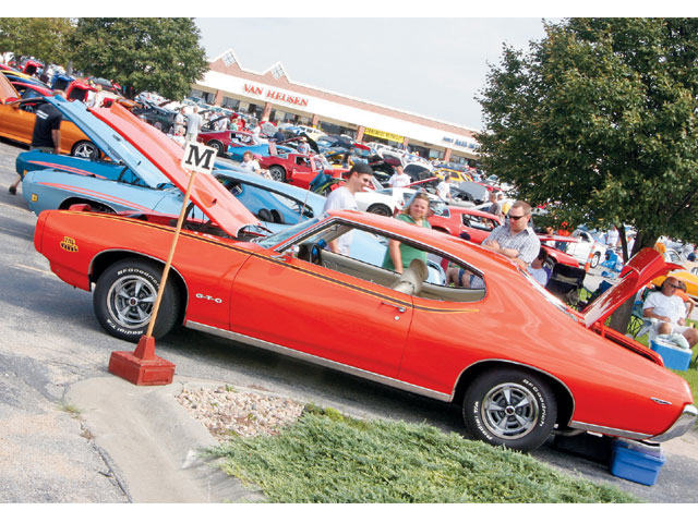 Judges and late-model GTOs nearly filled a full row.