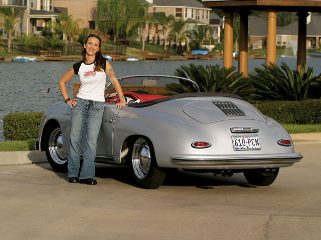 What is it with pretty women and their love of Porsche Speedsters? Hmmm, my next kit car should be a Speedster replica.