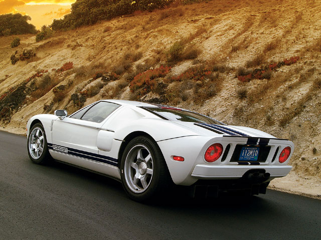 The 2003 Ford GT kept the feel of the original, but added a modern aluminum chassis and supercharged engine.