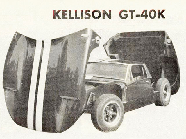 The Kellison GT40K was the first American replica. Most were installed on VW running gear, but some had mid-engine V-8s.