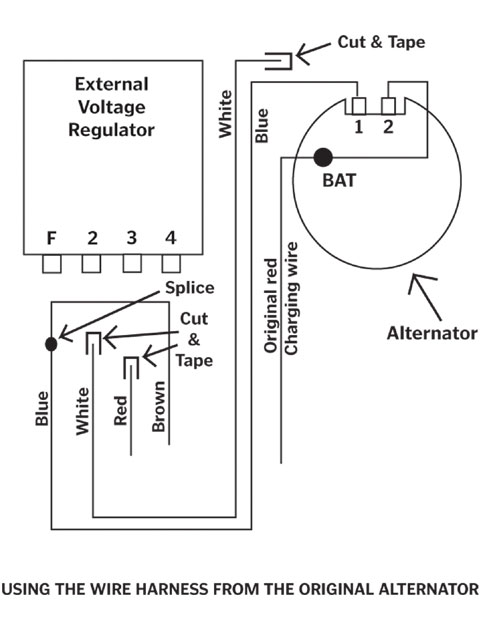Car Alternator Voltage Regulator Circuit Diagram | Muscle Car Electrical Tech Tips Diagnose Those Musclecar