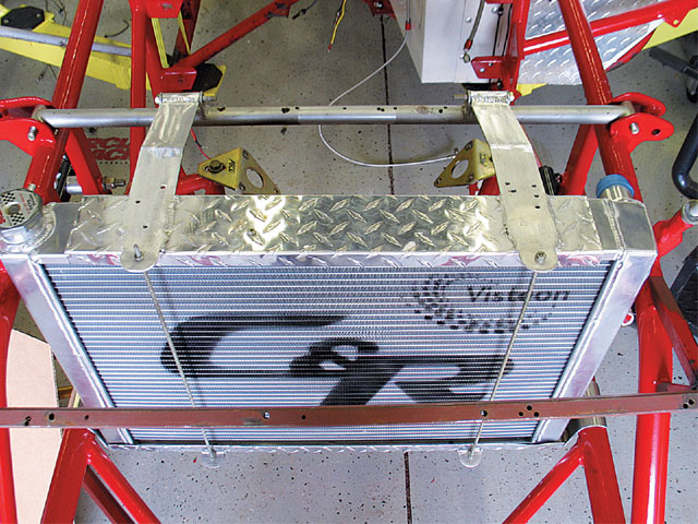 Our new dual core single-pass C&R radiator in place.
