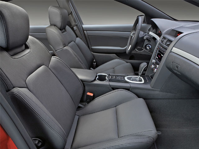 Though the monochromatic optional leather interior may seem bland to some, there are plenty of gauges and gadgets to keep you occupied. Or you can always order the optional Red and Onyx heated power leather seats.