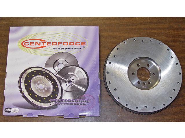 A Centerforce flywheel is matched to and balanced with the clutch assembly to ensure smooth performance.