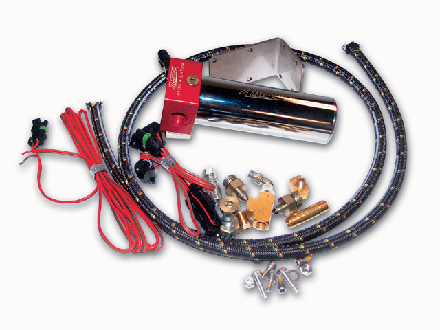 AMSOIL's kit came with everything necessary for installation- fittings, hose, and fasteners-plus clear, concise instructions. It can be installed and operated at any angle.