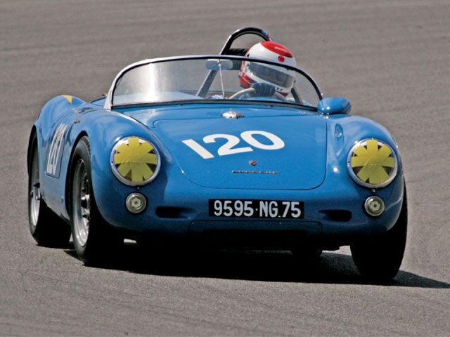 This 1955 Porsche 550 Spyder competed at the Monterey Historic races.
