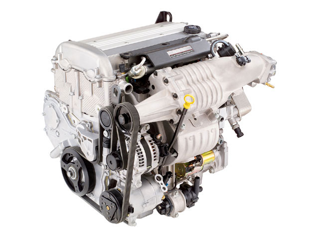 The 2.0L DOHC Zetec is available from Ford Racing as a crate engine. The supercharger kit shown here is available from the same source, adding 45 hp at the wheels.