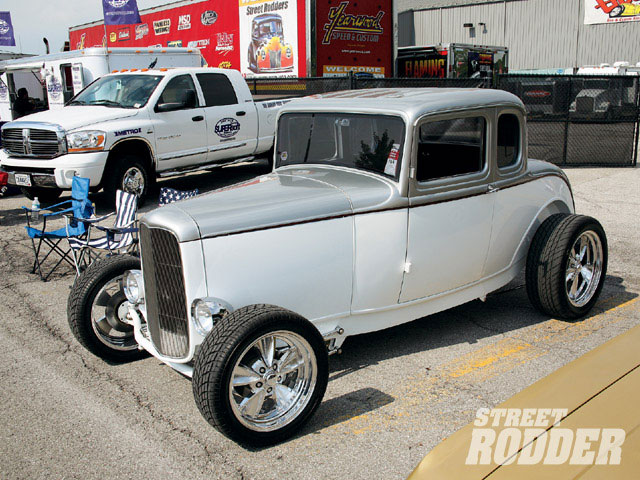 Wayne Piepenbrok of Indianapolis, IN had his '32 highboy five-window coupe present and powered with a 427in SBC and Billet Specialty five spokes. Again, five-windows are cool, and there are too few of these around.