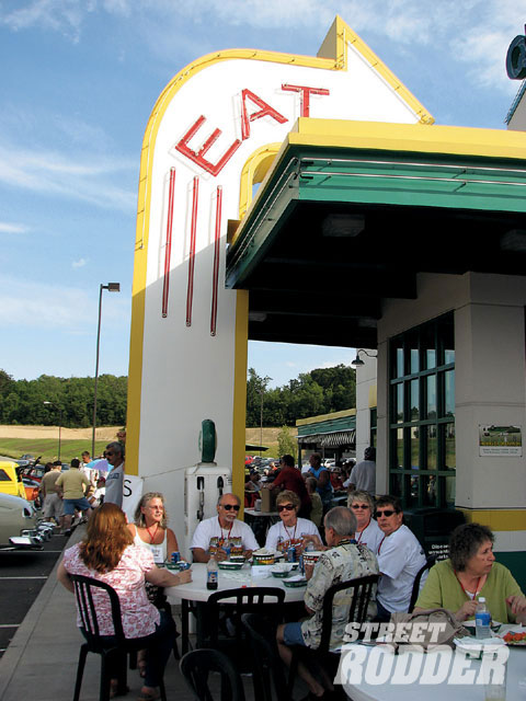 Participants on the Classic Automobilia leg of the PPG / Street Rodder Road Tour were special guests for a Sunday evening kickoff party at the Quaker Steak & Lube in Austintown, OH.